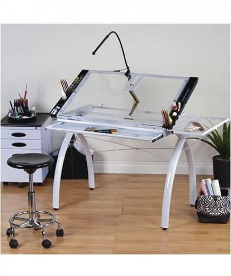 Mesa para dibujo sobre de vidrio con bandeja Futura Craft Statio