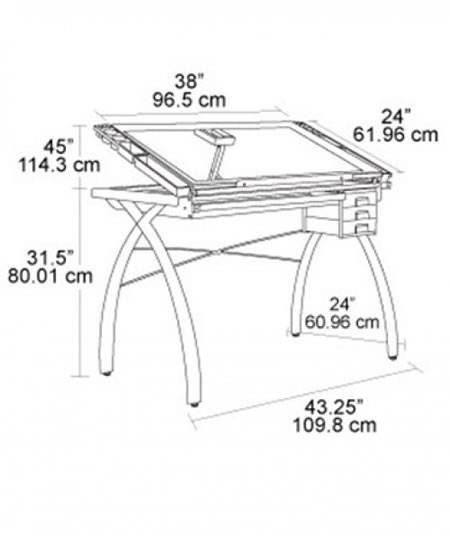 Mesa para dibujo sobre de vidrio Futura Craft Station  ATAI
