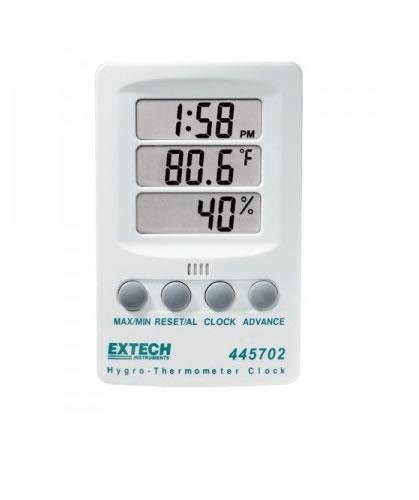 Term metro digital con medidor de humedad extech 445702 for Medidor de temperatura y humedad digital